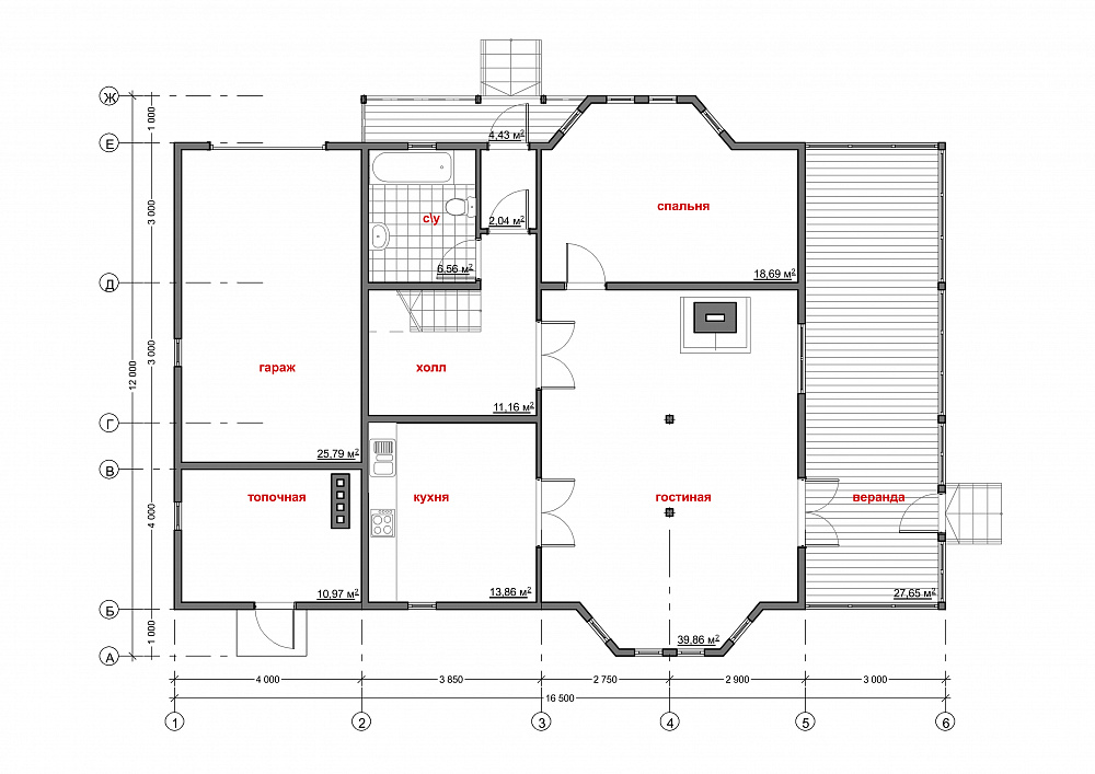 Проект дома «Дельта»